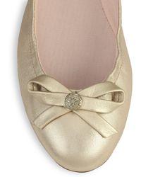 Jack Rogers Regina Metallic Leather Ballet Flats - Lyst