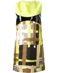 DSquared2 Abstract Print Dress - Lyst