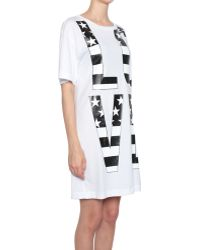 Love Moschino Cotton Jersey Dress With Love Print - Lyst