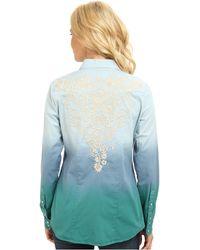 Stetson - Dip Dye Ls Denim Shirt - Lyst