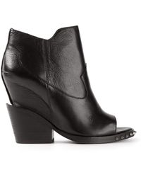 Ash Stud Detail Ankle Booties - Lyst