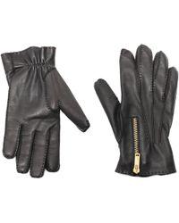 Alexander McQueen - Zip Leather Gloves - Lyst