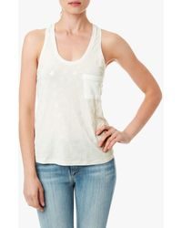7 For All Mankind Etched Stone Foiled Tank - Lyst