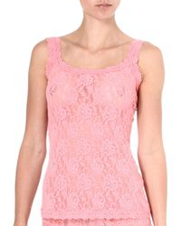 Hanky Panky Signature Lace Camisole Duchess Coral - Lyst