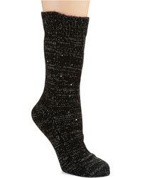 Kate Spade Slouchy Sparkle Socks - Lyst