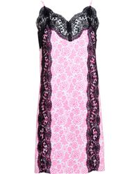 Christopher Kane Slip Dress With Lace Panels - Lyst