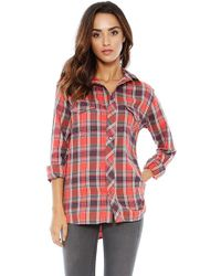 Textile Elizabeth And James Kurt Flannel Shirt - Lyst