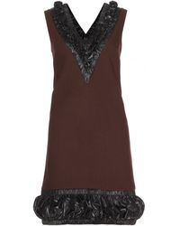 Christopher Kane Embellished Wool Dress - Lyst
