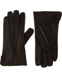Barneys New York Fur Lined Gloves - Lyst