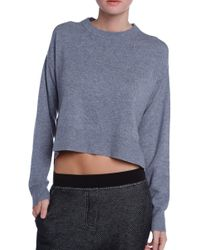T By Alexander Wang Pullover Cropped Sweater - Lyst