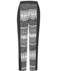 Topshop Maternity Definitives Aztec Stripe Tapered Trousers black - Lyst