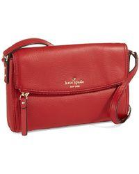 Kate Spade Mini Carson Fold Over Shoulder Bag - Lyst