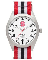 Jack Mason Brand - 'nc State University Wolfpack' Stripe Nato Strap Watch, 40mm - Lyst