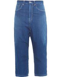 Y's Yohji Yamamoto - Boyfriend-fit Cropped Jeans - Lyst