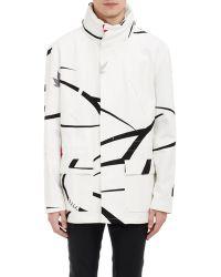 Raf Simons Field Jacket white - Lyst