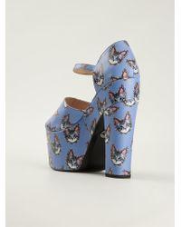 Markus Lupfer Cat Print Platform Sandals - Lyst