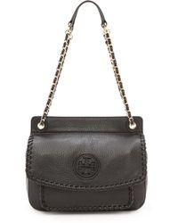 Tory Burch Marion Small Shoulder Bag Black - Lyst