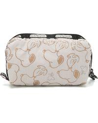 LeSportsac - Peanuts X Snoopy Rectangular Cosmetic Case - Snoopy Shuffle Cream - Lyst