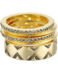 House Of Harlow 1960 Shakti Ring Stack - Lyst