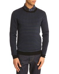 Marc By Marc Jacobs Navy Round-Neck Sweater - Lyst