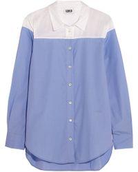 Sonia By Sonia Rykiel Satin Twill-Paneled Cotton Shirt - Lyst