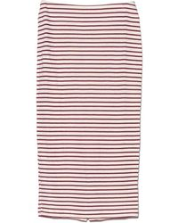 The Lady & The Sailor - Fig Stripe Knit Pencil Skirt - Lyst