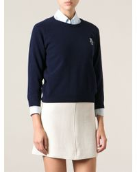 Peter Jensen Embroidered Logo At The Chest Sweater - Lyst