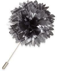 Lanvin Plaid Flower Lapel Pin - Lyst