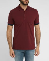 Hugo Burgundy Cotton Piqué Logo Polo Shirt - Lyst