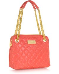 Blugirl Blumarine - Coral Red Quilted Eco Leather Shoulder Bag - Lyst