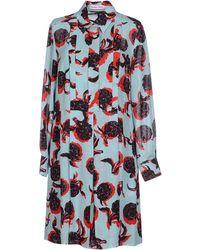 See By Chloé Short Dress green - Lyst