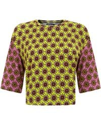 House of Holland Cropped Tee Multi Flowers - Lyst