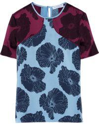 Jonathan Saunders Ellie Floral-print Satin Top - Lyst