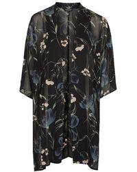 Topshop Cloudy Floral Print Kimono - Lyst