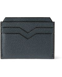 Valextra Crossgrain Leather Cardholder - Lyst