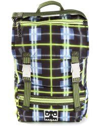 Kenzo Neon Plaid Backpack - Lyst