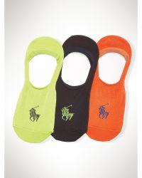 Polo Ralph Lauren No Show Liner Sock 3 Pack - Lyst