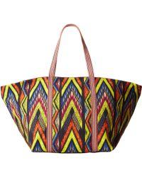 M Missoni Tribal Zig Zag Beach Bag - Lyst