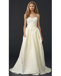 Marchesa Silk Faille Ballgown Skirt - Ivory beige - Lyst