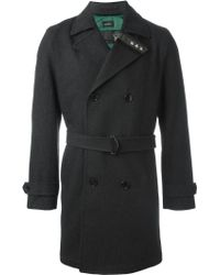 DIESEL | Embroidered Star Double Breasted Coat | Lyst