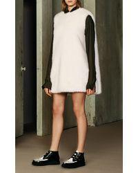 Ji Oh - Robertson Faux Fur Dress - Lyst