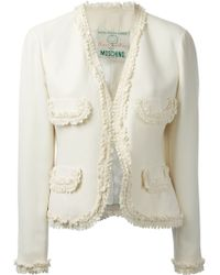 Moschino Nature Friendly Cropped Jacket - Lyst