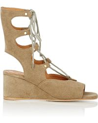 Chloé - Women's Foster Gladiator Wedge Sandals - Lyst