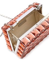 BCBGMAXAZRIA Lulu Square Crystal Clutch Bag Pink Rose - Lyst