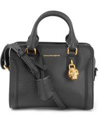 Alexander McQueen - Mini Black Padlock Zip Around Cross Body Bag - Lyst