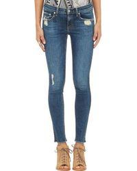 Rag & Bone Distressed Skinny Jeans - Lyst