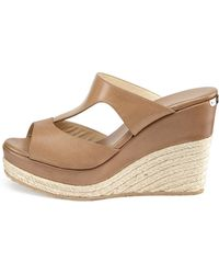 Jimmy Choo Pacane Leather Espadrille Wedge - Lyst
