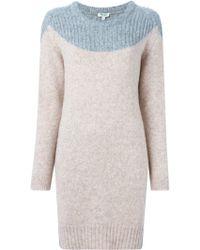 KENZO - Round Neck Jumper Dress - Lyst