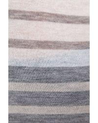 Enza Costa Cashmere Stripe Bold Sweater in Cream - Lyst