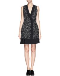 Proenza Schouler Splatter Paint Asymmetric Crepe Wrap Dress - Lyst